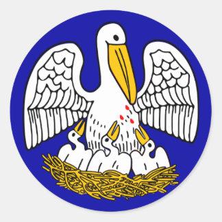 ルイジアナの州の旗 ラウンドシール