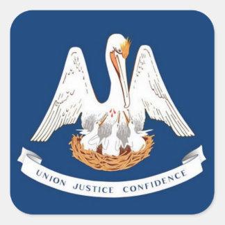 ルイジアナの旗 スクエアシール