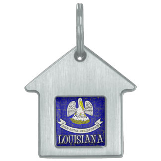 ルイジアナの旗 ペットネームタグ