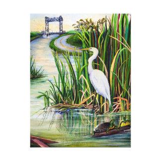 ルイジアナの沼地 キャンバスプリント