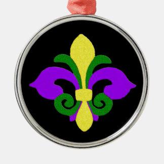 ルイジアナの(紋章の)フラ・ダ・リ(謝肉祭) .jpg メタルオーナメント