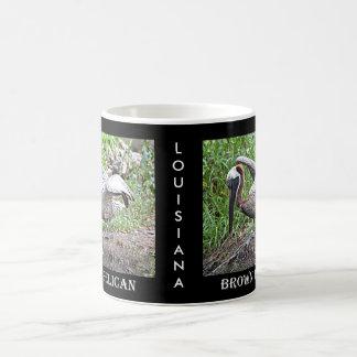 ルイジアナブラウンのペリカン コーヒーマグカップ