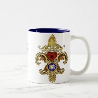 ルイジアナ二百年毎のFlor de lis Viewのヒント ツートーンマグカップ