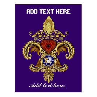 ルイジアナ二百年毎のFlor de lis Viewのヒント ポストカード