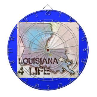 """""""ルイジアナ4生命""""の州の地図のプライドのデザイン ダーツボード"""