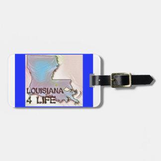"""""""ルイジアナ4生命""""の州の地図のプライドのデザイン ラゲッジタグ"""