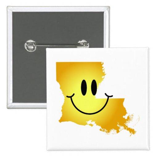 ルイジアナ|スマイリー|顔 ピンバッジ