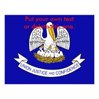 ルイジアナ、米国の旗が付いているフライヤ チラシ