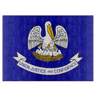 ルイジアナ、米国の旗を持つガラスまな板 カッティングボード