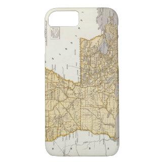 ルイジアナ(1845年)のヴィンテージの地図 iPhone 8/7ケース