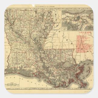 ルイジアナ(1895年)の地図 スクエアシール