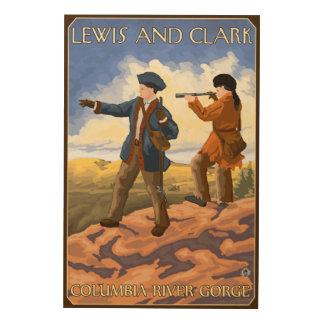 ルイスおよびクラーク-コロンビア川の峡谷、オレゴン ウッドウォールアート