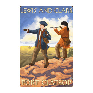 ルイスおよびクラーク-城砦Clatsop、オレゴン キャンバスプリント