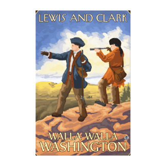 ルイスおよびクラーク- Walla Walla、ワシントン州 キャンバスプリント