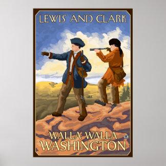 ルイスおよびクラーク- Walla Walla、ワシントン州 ポスター