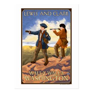 ルイスおよびクラーク- Walla Walla、ワシントン州 ポストカード