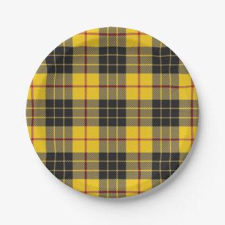 ルイスのタータンチェックのスコットランドの一族MacLeodの好み ペーパープレート