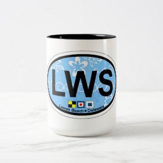 ルイスのビーチの楕円形の設計 ツートーンマグカップ