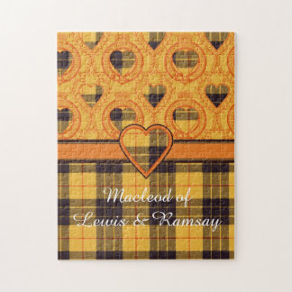 ルイス及びRamsayの格子縞のスコットランド人のタータンチェックのMacleod ジグソーパズル