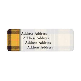 ルイス及びRamsayの格子縞のスコットランド人のタータンチェックのMacleod ラベル