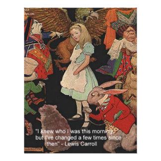 ルイス・キャロルのイラストレーション及び心の変更の引用文 レターヘッド