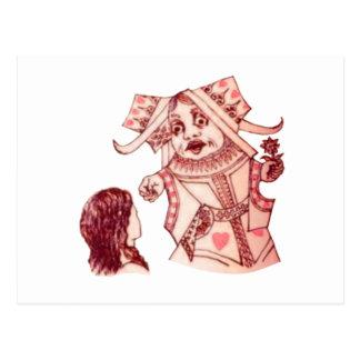 ルイス・キャロル著アリス及び女王 ポストカード