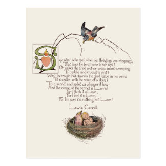 ルイス・キャロル著作の子供部屋の詩 ポストカード