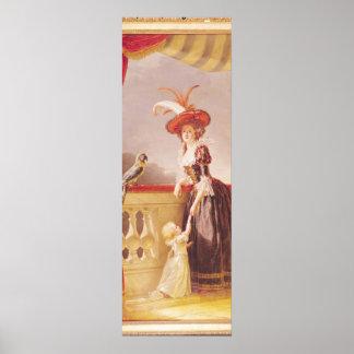 ルイーズElisabeth deフランスおよび彼女のポートレート ポスター