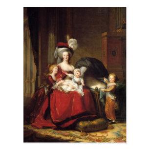 ルイーズLe Brun- Marieアントワネットおよび彼女の子供 ポストカード