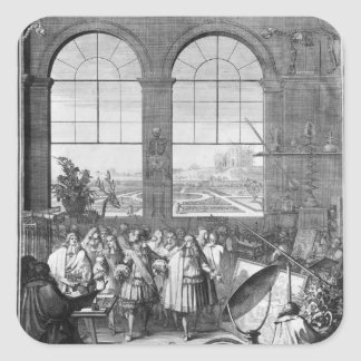 ルイ14世および彼の側近の訪問 スクエアシール