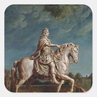 ルイ14世の乗馬の彫像の輸送 スクエアシール