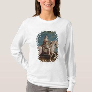 ルイ14世の乗馬の彫像の輸送 Tシャツ