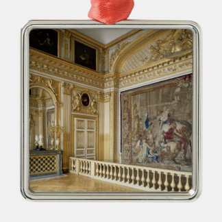 ルイ14世のbedchamber シルバーカラー正方形オーナメント