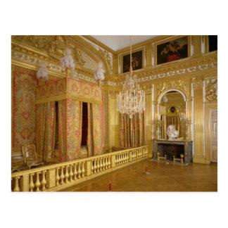 ルイ14世寝室1701-23年のインテリア ポストカード