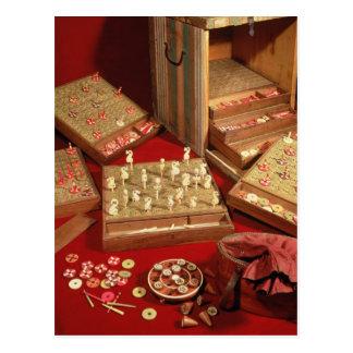 ルイ14世発明するDauphinの宝くじのゲーム ポストカード