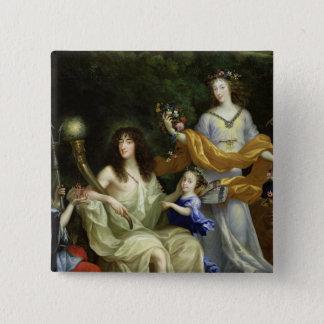 ルイ14世1670年の系列 5.1CM 正方形バッジ