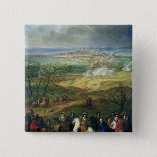 ルイ14世1691年4月9日著モンスの包囲 5.1CM 正方形バッジ
