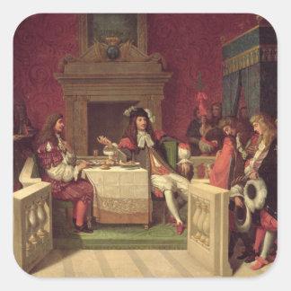 ルイ14世1857年と食事するMoliere スクエアシール