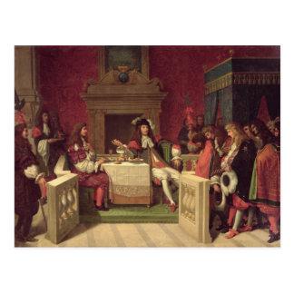 ルイ14世1857年と食事するMoliere ポストカード