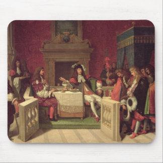 ルイ14世1857年と食事するMoliere マウスパッド