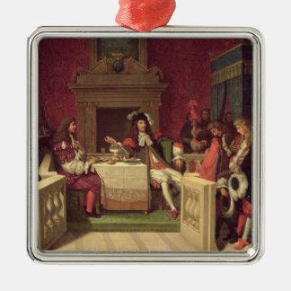 ルイ14世1857年と食事するMoliere メタルオーナメント