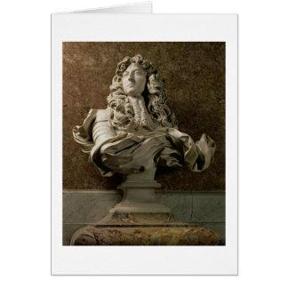 ルイ14世(1638-1715年)のポートレートのバスト、1665年、(3月 カード