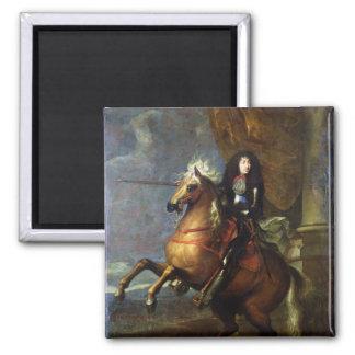 ルイ14世c.1668の乗馬のポートレート マグネット