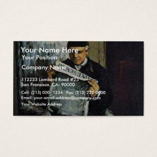 ルイAuguste CézanneのTの父のポートレート 名刺