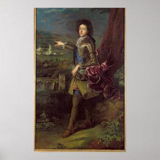 ルイAuguste deブルボンのポートレート ポスター