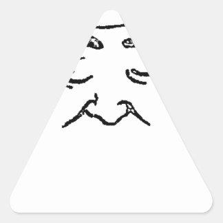 ルイCoujarod Felix Vallottoフランスのな美術史家 三角形シール