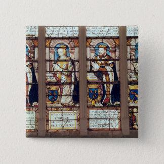ルイdeブルボンを描写する窓 5.1cm 正方形バッジ