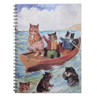 ルイWain -海の人間の形をした猫の船遊び ノートブック