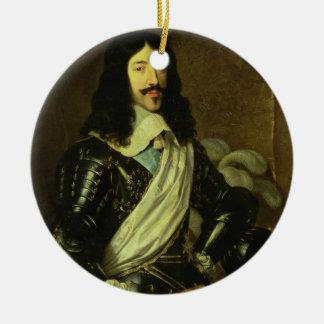 ルイXIII (1601-43年) (キャンバスの油) セラミックオーナメント