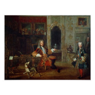 ルイXVおよび理事、Philippe II ポスター